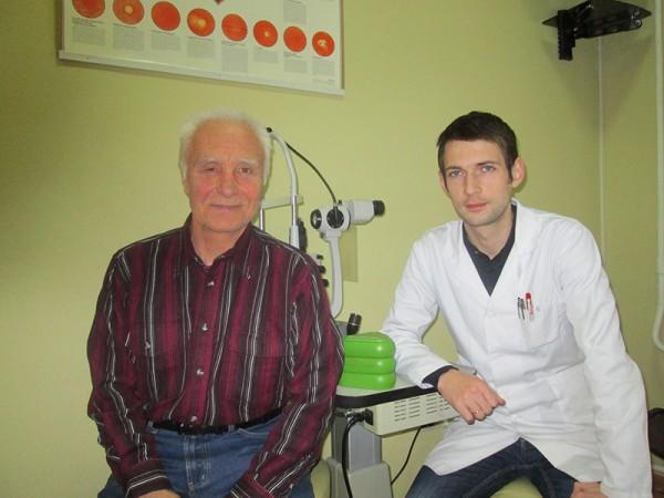 после операции на другой день с А.Казанец