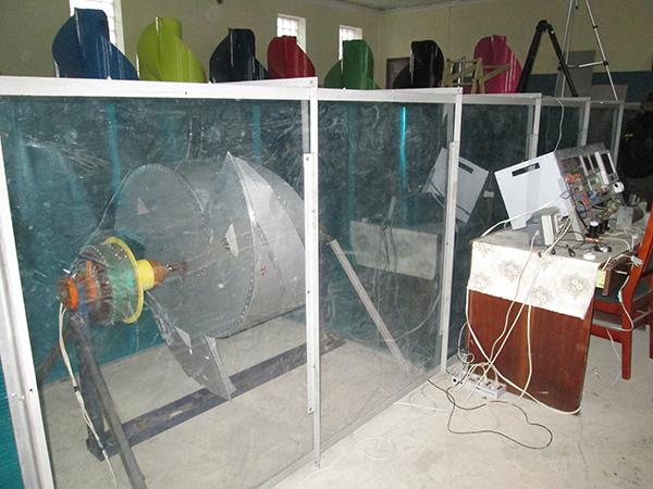 испытания в аэродинамической трубе