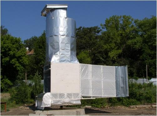 ветроустановка в виде башни