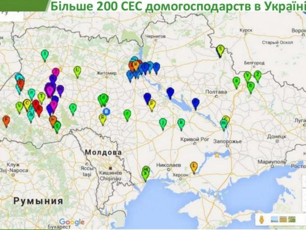 карта расположения СЭС