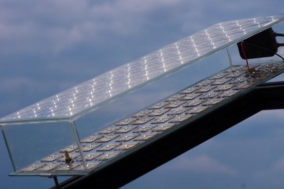 линзовая солнечная панель