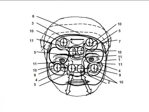 маска с обозначениями