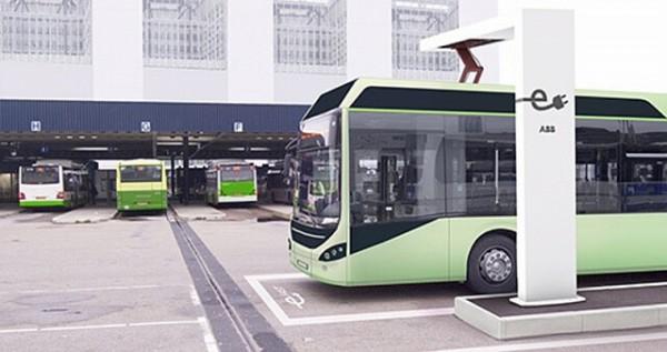 зарядка электробусов в Женеве
